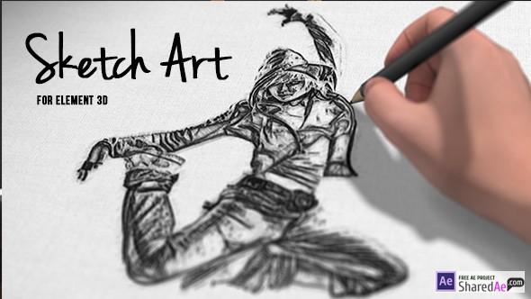 Videohive Pencil Sketch Art 17913816 - Free Download